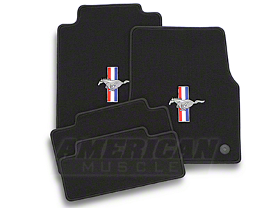 Black Floor Mats - Pony Logo (13-14 All)