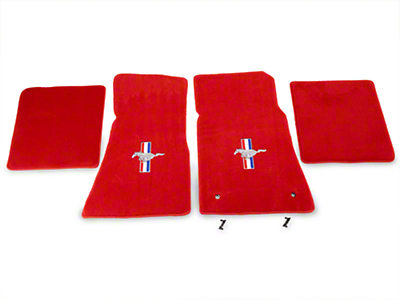 Lloyd Red Floor Mats - Pony Logo (79-93 All)