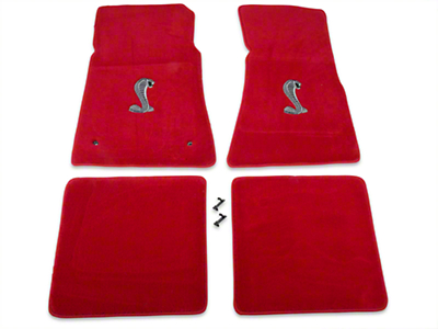 Red Floor Mats - Cobra Logo (79-93 All)