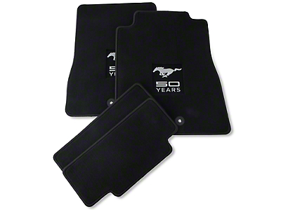Black Floor Mats - 50th Anniversary Logo (13-14 All)
