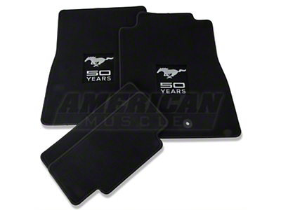 Black Floor Mats - 50th Anniversary Logo (11-12 All)