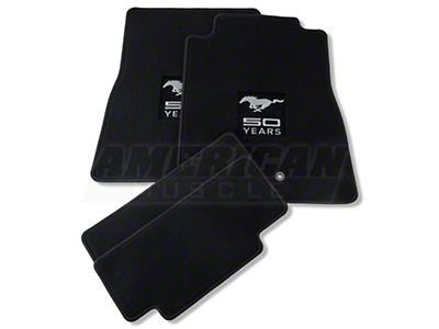 Dark Charcoal Floor Mats - 50th Anniversary Logo (05-10 All)