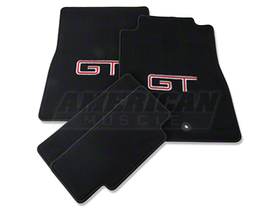 Dark Charcoal Floor Mats - Silver & Red GT Logo (11-12 All)