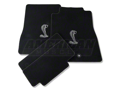 Black Floor Mats - Cobra Logo (13-14 All)