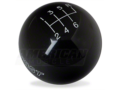 Hurst Classic Black 6-Speed Shift Knob (83-04 All)