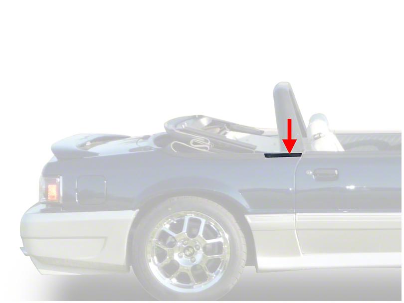 OPR Exterior Quarter Window Belts - Convertible (83-93 All)