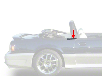 Exterior Quarter Window Belts - Convertible (83-93 All)