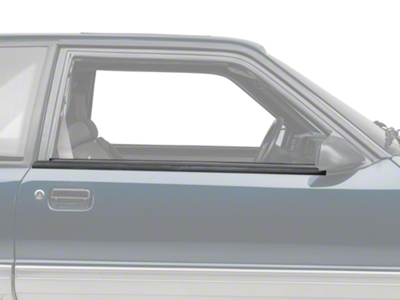 Exterior Door Window Belt Molding Trim- Coupe, Hatchback (87-93 All)