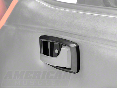 Black Interior Door Handle Bezels (79-93 All)