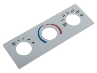 AM Interior White A/C Gauge Face (01-04 All)
