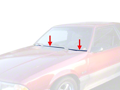 Windshield Lower Trim Molding Kit (87-93 All)