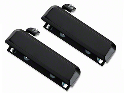 Gloss Black Exterior Door Handles - Pair (79-93 All)