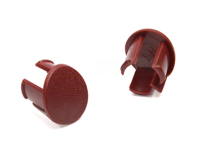 Arm Rest Pad Plugs - Red (87-93 All)