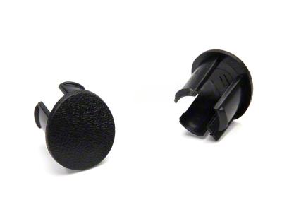 Arm Rest Pad Plugs - Black (87-93 All)
