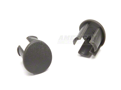 Arm Rest Pad Plugs - Gray (87-93 All)