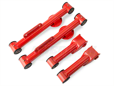 SR Performance Complete Rear Control Arm Kit - Red (79-98)