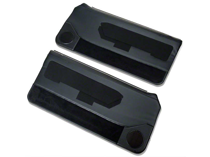 Black Door Panels w/ Power Windows & Carpeting - Coupe, Hatchback (87-93 All)