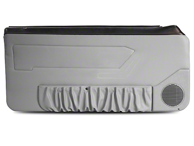 Titanium Gray Door Panels w/ Power Windows & Map Pockets - Coupe, Hatchback (87-93 All)