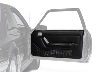 Black Door Panels w/ Power Windows & Map Pockets - Coupe, Hatchback (87-93 All)
