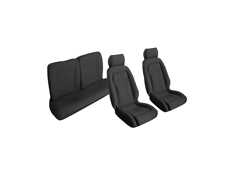 OPR Black Front & Rear Sport Seat Upholstery - Hatchback (87-89 All)