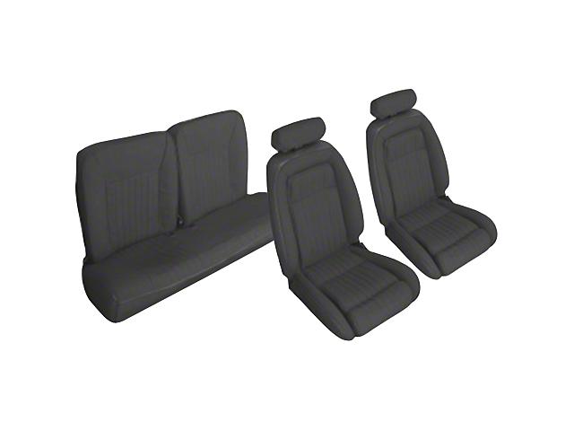 OPR Black Front & Rear Sport Seat Upholstery - Hatchback (90-91 All)