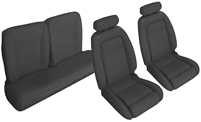 Black Front & Rear Sport Seat Upholstery - Hatchback (90-91 All)