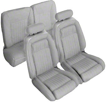 Titanium Gray Front & Rear Sport Seat Upholstery - Hatchback (92-93 All)