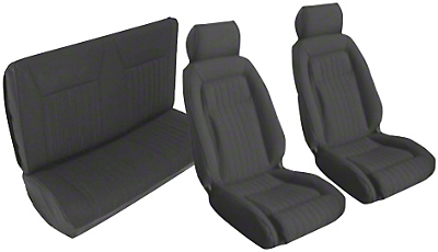 Black Front & Rear Sport Seat Upholstery - Convertible (87-89 All)