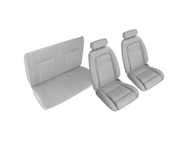 Titanium Gray Front & Rear Sport Seat Upholstery (90-91 Convertible)