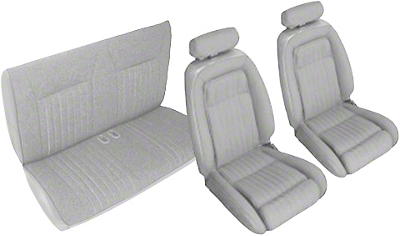 Titanium Gray Front & Rear Sport Seat Upholstery - Convertible (90-91 All)
