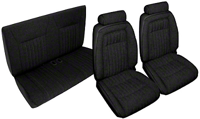 Black Front & Rear Sport Seat Upholstery - Convertible (92-93 All)