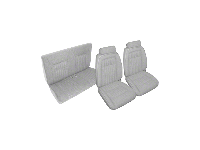 Titanium Gray Front & Rear Sport Seat Upholstery (92 Convertible)