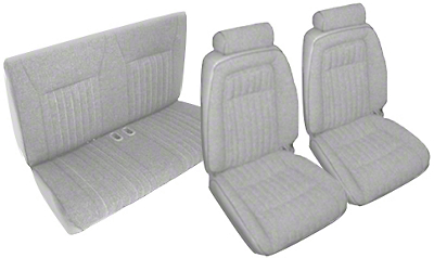 Titanium Gray Front & Rear Sport Seat Upholstery - Convertible (92-93 All)