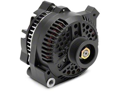 PAPerformance Alternator - 130 Amp Flat Black (87-93 5.0L)