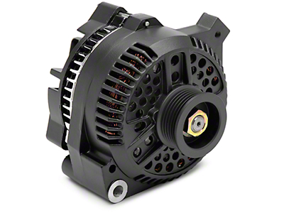 PAPerformance Alternator - 130 Amp Flat Black (87-93 5.0L)