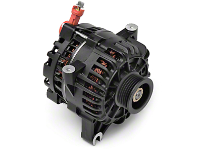 PAPerformance Alternator - 130 Amp Flat Black (99-04 GT)
