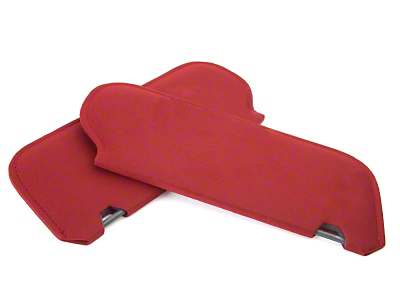 Cloth Sun Visors- Coupe/Hatchback - Scarlet Red (83-93 All)