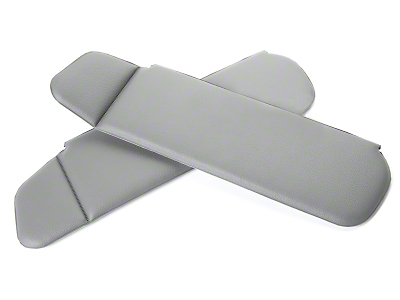 Vinyl Sun Visors - Convertible - Smoke Gray (83-93 All)