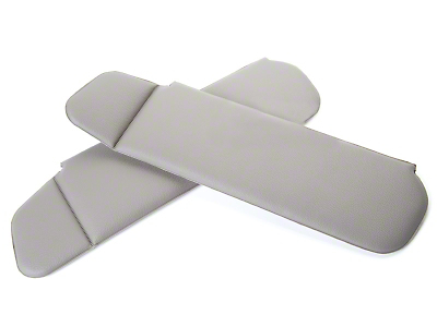 Vinyl Sun Visors - Convertible - Titanium Gray (90-92 All)