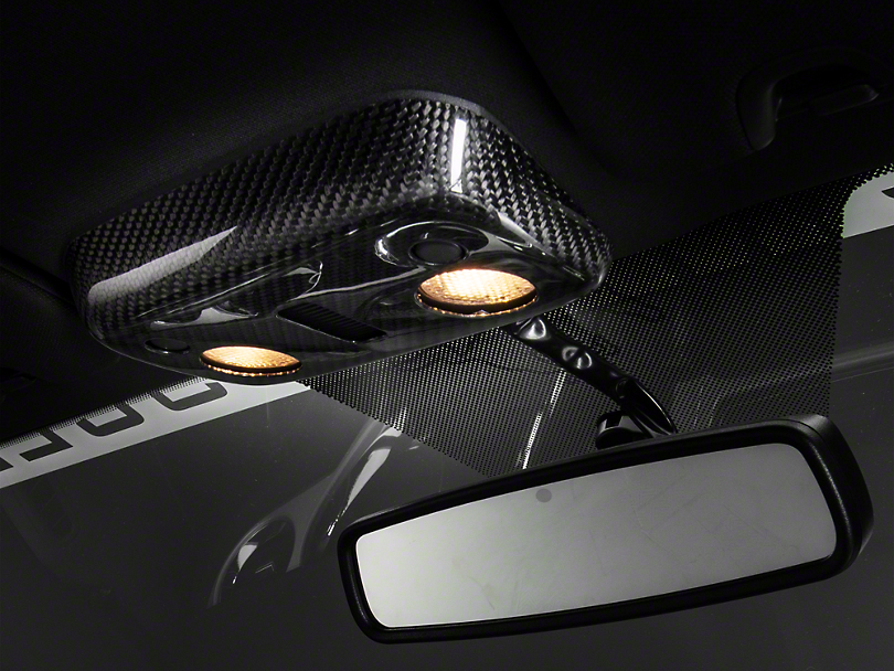Carbon Fiber Map Light Cover - Convertible (13-14 All)