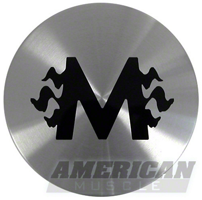 Silver M-Fire Style Center Cap - Large