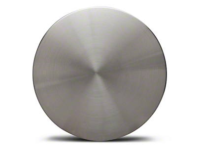 Silver Brushed Aluminum Center Cap - Large