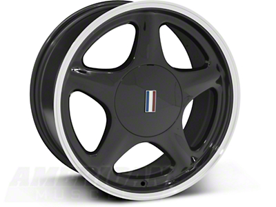 Black Pony Wheel w/ Machined Lip - 5 Lug - 17x8 (87-93; Excludes 93 Cobra)