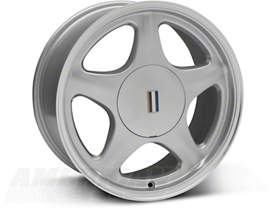 Silver Pony Wheel w/Machined Lip - 5 Lug - 17x8 (87-93; Excludes 93 Cobra)