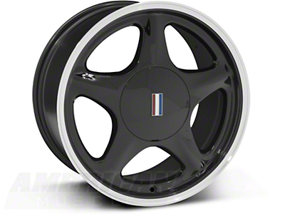 Pony Black w/ Machined Lip Wheel - 5 Lug - 17x9 (87-93; Excludes 93 Cobra)