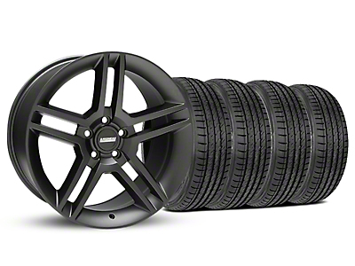 Staggered 2010 GT500 Matte Black Wheel & Sumitomo Tire Kit - 19x8.5/10 (05-14 All)