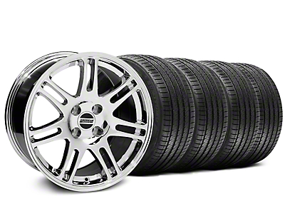 Chrome 10th Anniversary Style Wheel & Sumitomo Tire Kit - 17x9 (87-93; Excludes 93 Cobra)