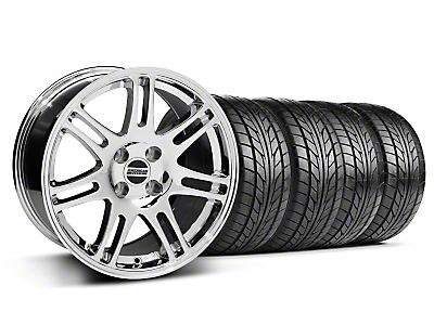 Chrome 10th Anniversary Style Wheel & NITTO Tire Kit - 17x9 (87-93; Excludes 93 Cobra)