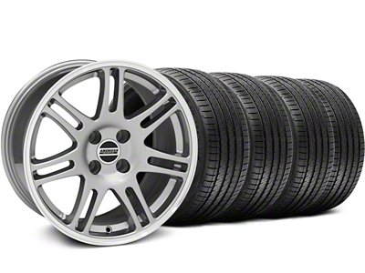 10th Anniversary Cobra Style Anthracite Wheel & Sumitomo Tire Kit - 17x9 (87-93; Excludes 93 Cobra)