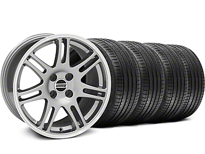 10th Anniversary Cobra Anthracite Wheel & Sumitomo Tire Kit - 17x9 (87-93; Excludes 93 Cobra)
